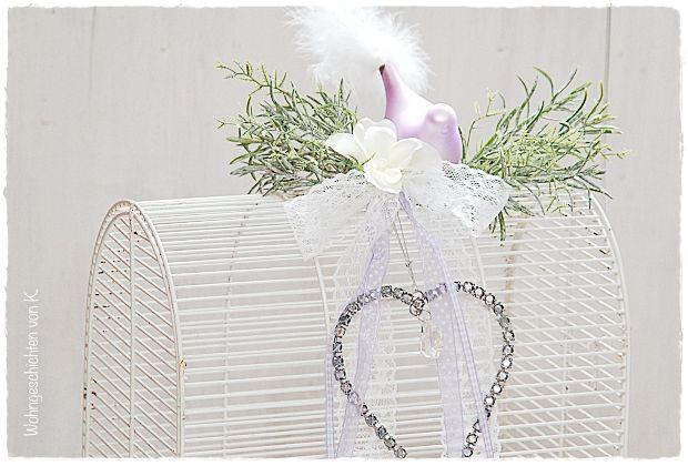 Der alte Vogelkäfig, im Shabby Chic, ist auch als Hochzeitsdeko äußerst liebenswert.