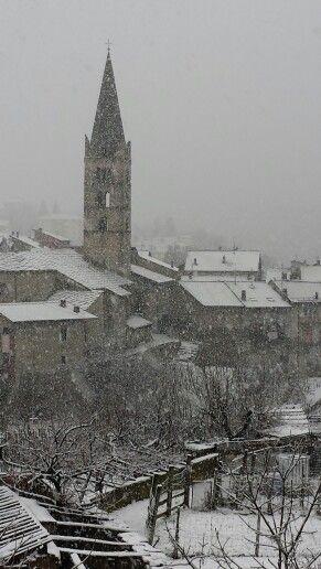 Chiomonte in Val di Susa sotto la neve