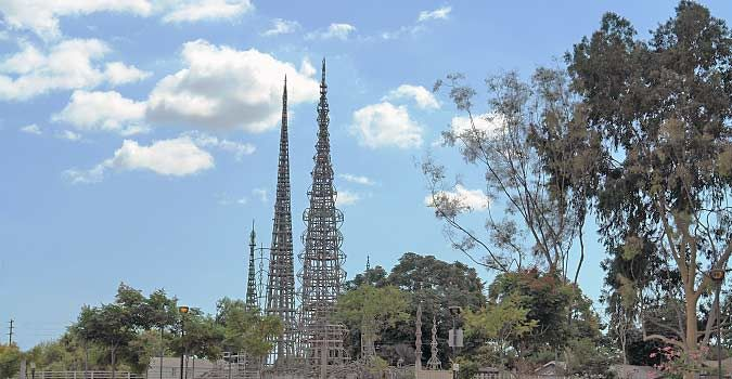 Watts Towers - deep in the badlands of LA