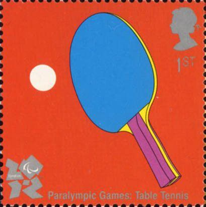 2012 Olympic and Paralympic Games 1st Stamp (2010) Paralympic Games Table Tennis