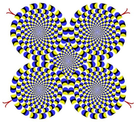 Why does your brain perceive this as spinning, and then your eyes hurt, or mine do.