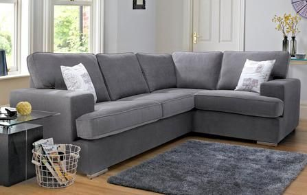 Merit Left Hand Facing 2 Seater Corner Sofa Bed Plaza