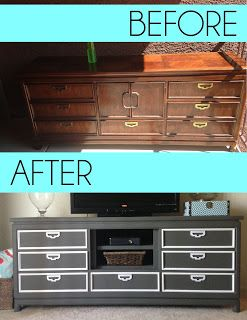 How to make your own entertainment center. NO SANDING! It must be a miracle.Thrift and Craft It