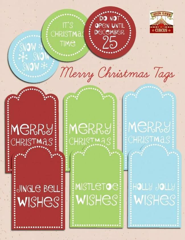 The 25+ best Christmas present labels template free ideas on - christmas tag template