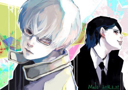 Arima Kishou and Furuta from Tokyo Ghoul Re: