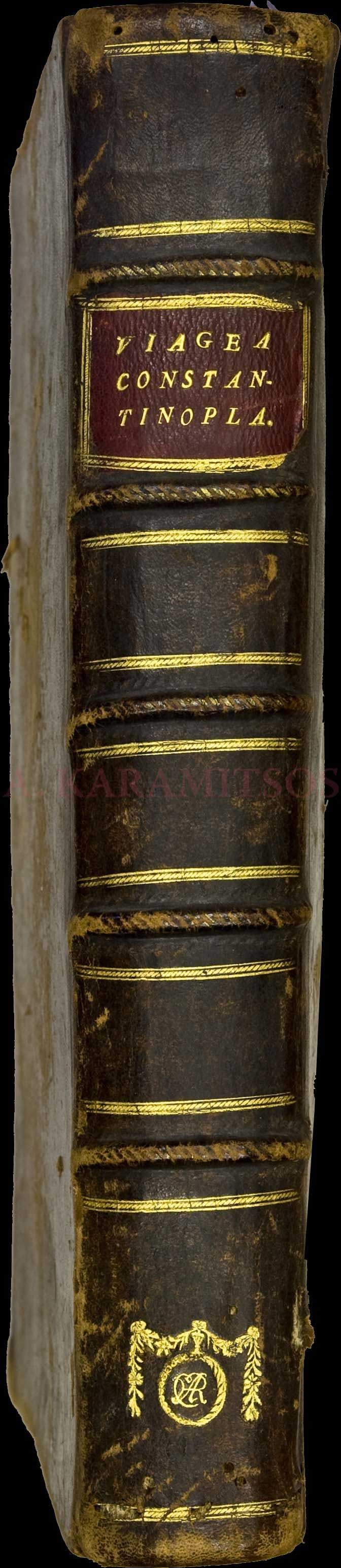"""Moreno Jose, """"Viage a Constantinopla en el ano de 1784"""", Madrid, Imprenta Real 1790. First edition, Folio (30x22cm), pp.[18],360,xxxiii."""