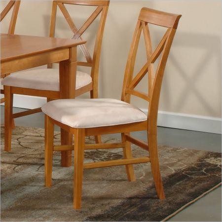 Atlantic Furniture Atlantic Furniture Lexington Side Chair In Caramel Latte  (Setu2026