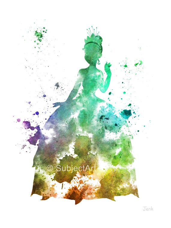 For sale direct from the artist Original Art Print of Princess Tiana