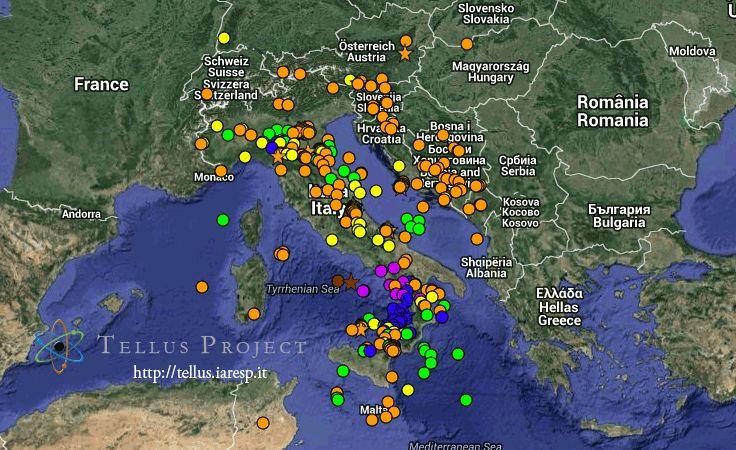 Terremoti più importanti dal 2000 ad oggi in Italia e una tabella riassuntiva