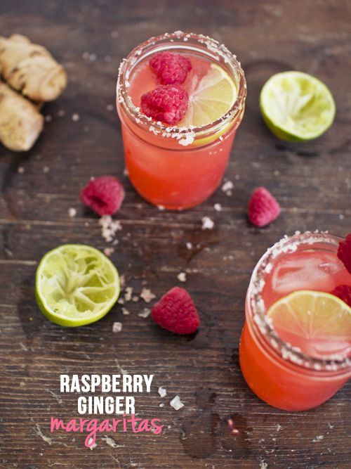 spicyicecream: Raspberry Ginger Margarita with Pink Salt