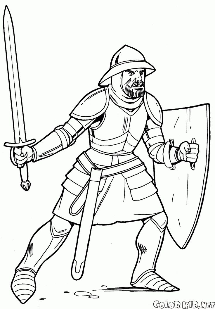 knights coloring pages - photo#25