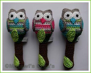 Crochet Owl baby Rattle