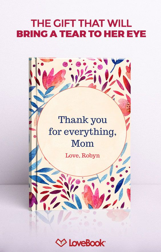 Bring a tear to Mom's eye this Mother's Day with a custom book just for Mom. This makes the perfect gift from both children and Dad. You can create your custom Love Book yourself with unlimited pages at one flat rate, professionally printed and bound. This keepsake Mom will love and treasure forever.