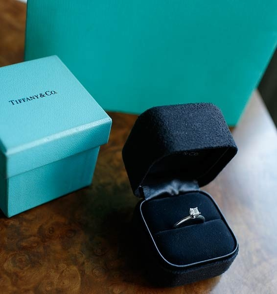 Tiffany & Co. Diamond .35ct Engagement Ring Platinum w/ Box & Receipts, at Sareh & Jones - London, pre-owned luxury designer jewellery & bags