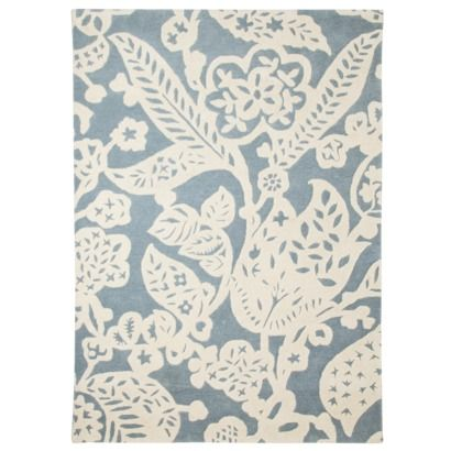 Threshold Wool Floral Area Rug Blue Cream Just Bought