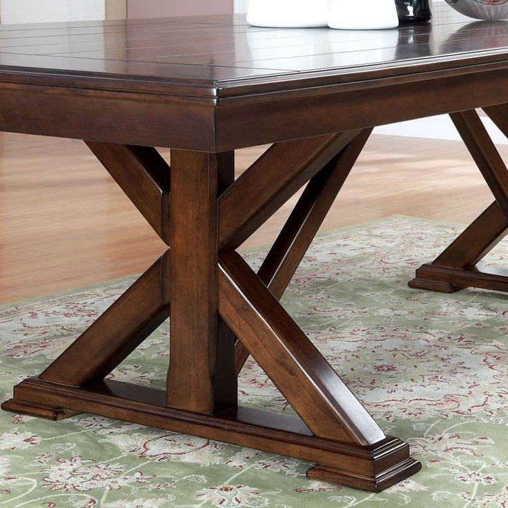 Descanso Old English Style Brown Cherry Finish Dining ...