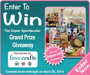 Enter to win The Super Spectacular Grand Prize Giveaway, filled with more than $700 in crafting supplies!  Hurry, contest ends April 25th