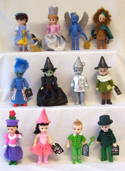 """Wizard Of Oz""  McDonald's toys we had Glinda, Elphaba, the pink munchkin girl and possibly the Wizard. Wow I had forgotten about these until Caleb mentioned them the other day."