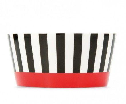 Remember Fine Bone China - Porzellanschale Black Stripes