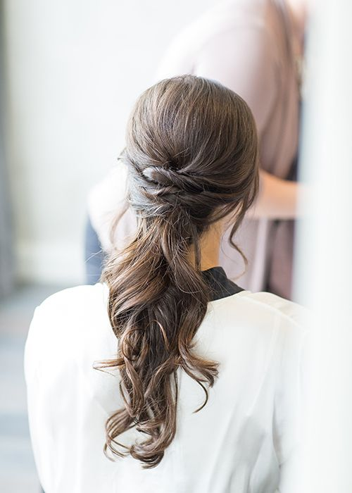 Rustic Wedding Hairstyle - Low Ponytail | Brides.com