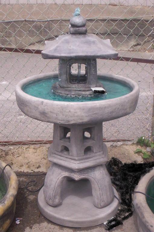 Asian bird bath
