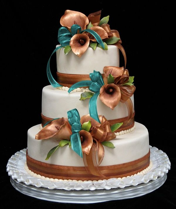 wedding ideas for teal and copper colors - Google Search