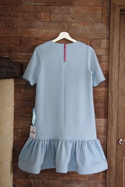 """Платья ручной работы. Заказать Платье с вышивкой """"Розы"""" голубое. Евгения…"""