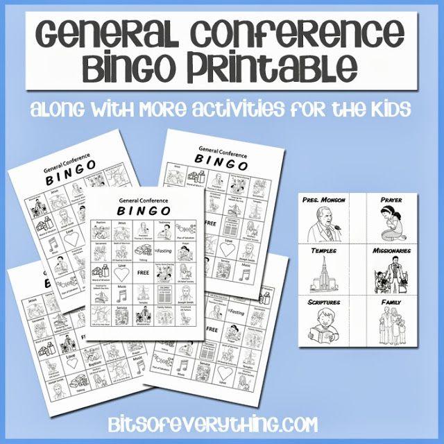 General Conference Printables #conference #bingo blog.bitsofeverything.com