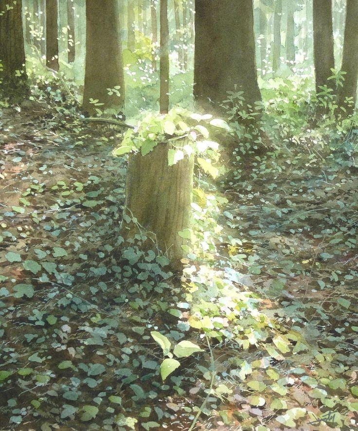 Abe Toshiyuki - Spring - watercolor