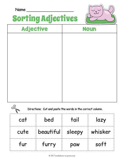 12 best adjective worksheets images on pinterest free printable worksheets and adjective. Black Bedroom Furniture Sets. Home Design Ideas