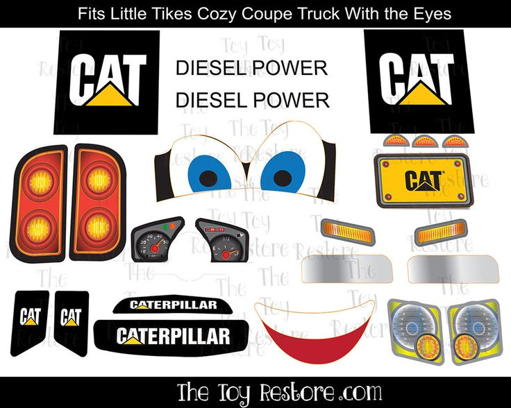 Replacement Decals fits Little Tikes #CozyCoupeTruck With