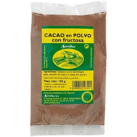 PREPARADO DE CACAO PARA HACER A LA TAZA CON FRUCTOSA SORRIBAS 150 g.