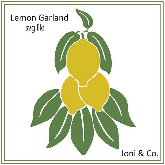 Lemon Garland SVG cutting file, lemon svg, Kitchen svg, Sale- 25% off purchase of 12 dollars or more. Use: SVGSALE