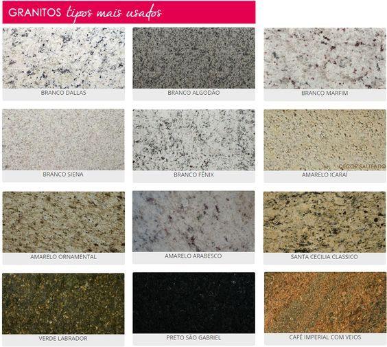 17 melhores ideias sobre tipos de granito no pinterest for Tipos de granitos