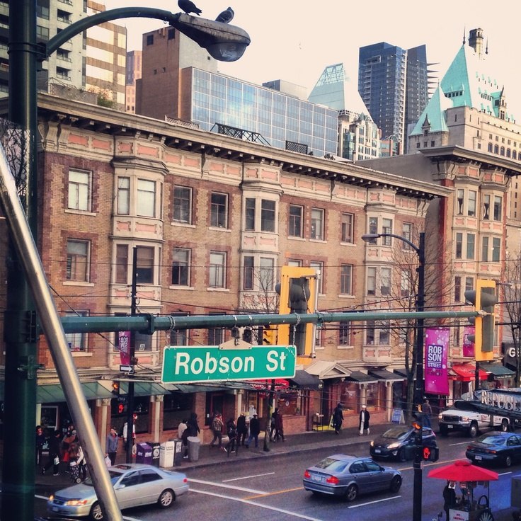 Robson Street, Vancouver BC ...so many great memories here