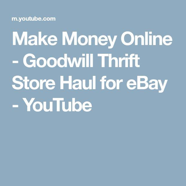 Make Money Online - Goodwill Thrift Store Haul for eBay - YouTube