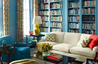 beautiful and colorful bookshelves