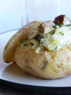 Chic, chic, chocolat...: Pommes de terre farcies aux cèpes et au foie gras