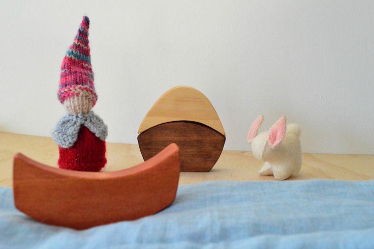 - Little Bubalishka - Waldorf Steiner Inspired wooden Easter Egg Stacker
