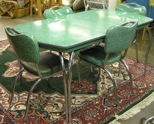 Ensemble de table et chaises vintage année 1960