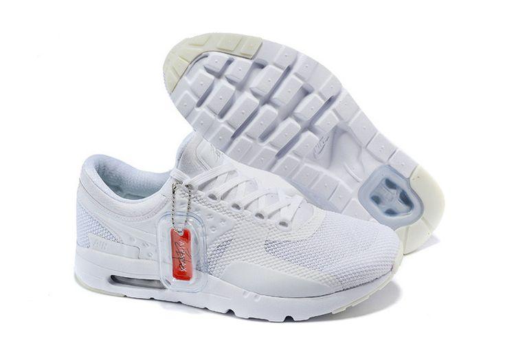 Goedkopen Vrouw Nike Air Max Zero Alle Wit Loopschoenen 789695 010