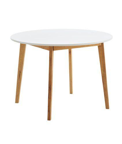 Ruokapöytä JEGIND Ø105 luonnonvärinen/va | JYSK