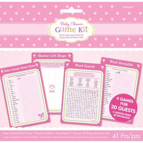 one girl baby shower game kit for 20 party city callie 39 s shower