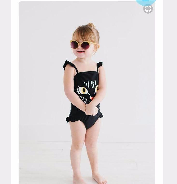 OEM-Service benutzerdefinierte heißen Bikini junge kleine Mädchen süße Badebekleidung ein Stück Katze Kind …   – Kids Ideas