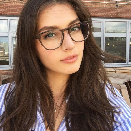 natural beauty with glasses