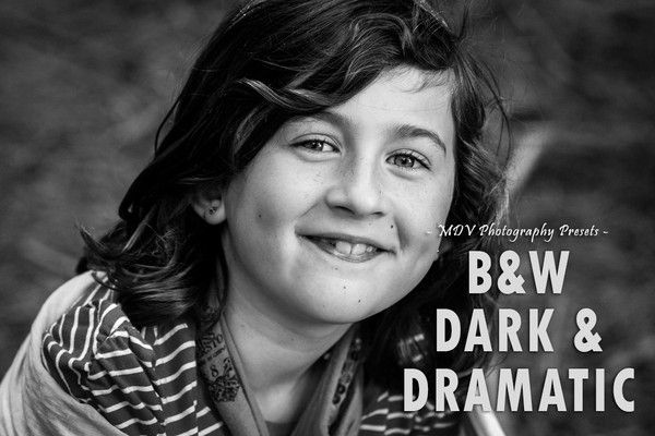 Give your shots some drama with the B&W Dark & Dramatic Lightroom presets.