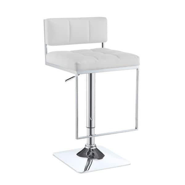 Coaster Company Silver Metal/Foam Adjustable Bar Stool
