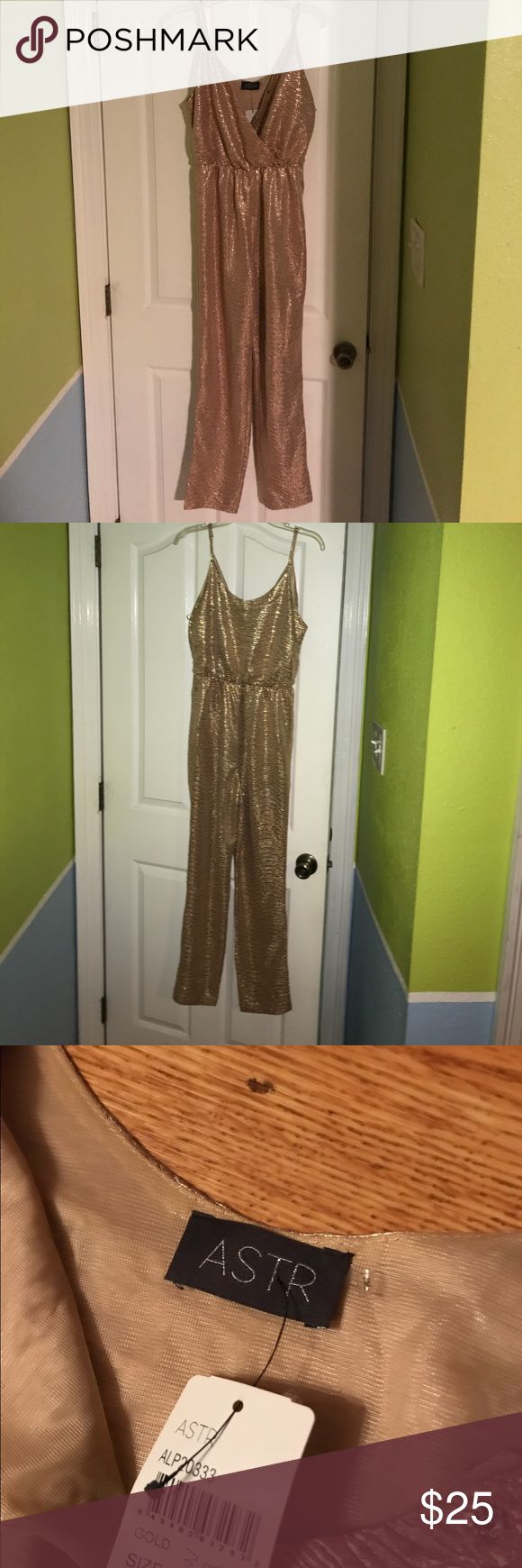 Gold Jumpsuit Gold sleeveless pants jumper Astr Other