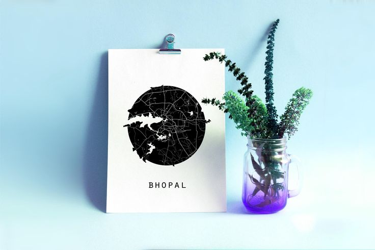 Bhopal Map, Madhya Pradesh Map, India Map, Maps, Black And White Map, Minimalistic Map, Minimal Map, Black Map,White Map,Minimal India Map by SomethingArtStudio on Etsy