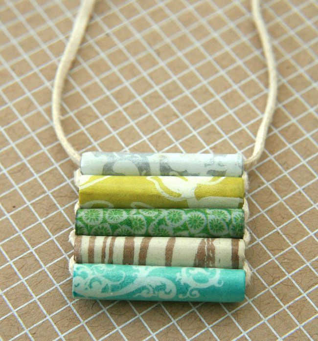 Paper Bead pendant Tutorial - also cuff with wire